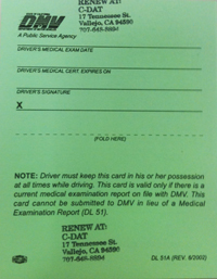Cal DMV Issues Guidance on New Medical Certification Requirements ...