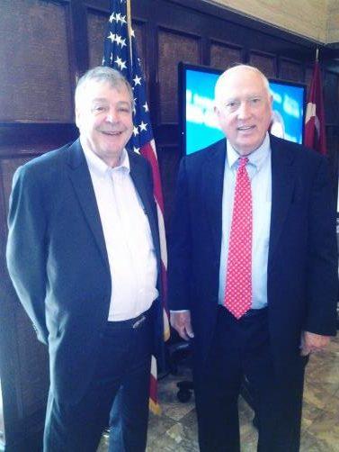 WSTA's Director of Governmental Affairs Joe Rajkovacz with ARTBA CEO Peter Ruane